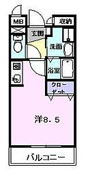 ウエスビュー[2階]の間取り