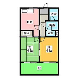 シャルマンハイツ[1階]の間取り