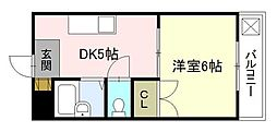 サンライズ鶴江A棟[2階]の間取り