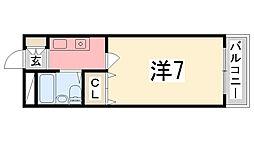 シエスタ姫路[508号室]の間取り