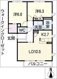 ガーデンプラムB棟[1階]の間取り