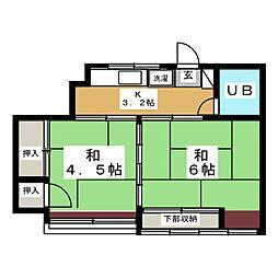 関口コーポ[2階]の間取り