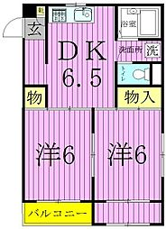 MKC西新井ハイツ[2階]の間取り