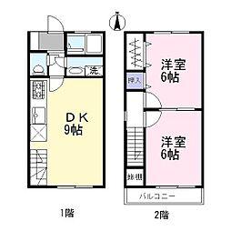 [テラスハウス] 愛知県瀬戸市北脇町 の賃貸【/】の間取り