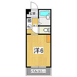 サンシーガルI・II[2階]の間取り