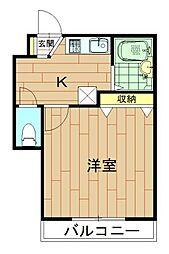 神奈川県川崎市中原区今井上町の賃貸アパートの間取り