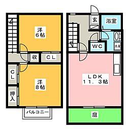 メゾン三宅B[1階]の間取り