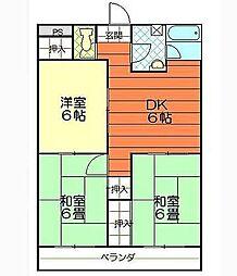 松山西ハイツ[5階]の間取り