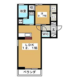 スマイル25[3階]の間取り