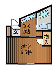 井上ビル[3−A号室]の間取り