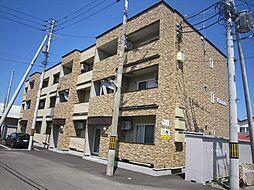 北海道帯広市東六条南16の賃貸アパートの外観