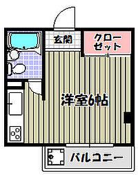 マンションシャトロー[1階]の間取り