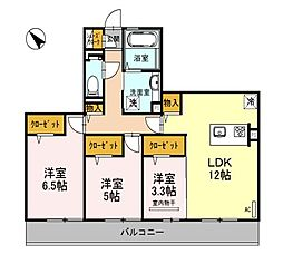 仮称)D−room和泉市池上町3丁目[3階]の間取り