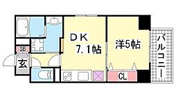 JEUNESSE北野[7B号室]の間取り