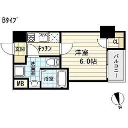 サムティ西長堀リバーフロント[12階]の間取り