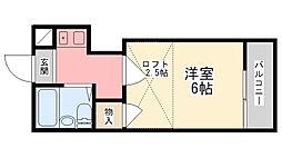 コスモス西飾磨[102号室]の間取り