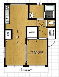 セレーノA[2階]の間取り