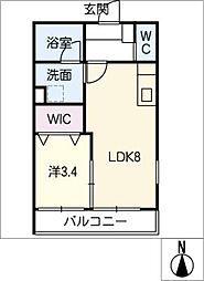 仮)幸心2丁目新築アパートB棟[1階]の間取り