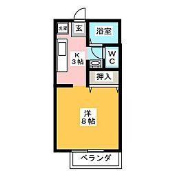 MNハイツA棟[2階]の間取り