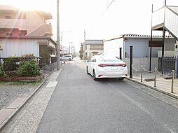 車通りが少なく見通しの良い前面道路.