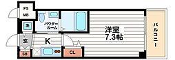 ステージグランデ堺筋本町[13階]の間取り