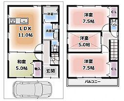 [一戸建] 大阪府守口市大久保町3丁目 の賃貸【/】の間取り