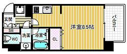 JR大阪環状線 野田駅 徒歩7分の賃貸マンション 4階ワンルームの間取り