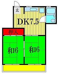 第二京葉マンション[5階]の間取り