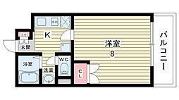 大阪府豊中市刀根山の賃貸マンションの間取り