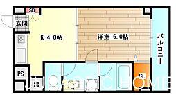 大阪府堺市堺区並松町の賃貸マンションの間取り