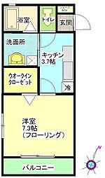 ローズガーデン弐番館[110号室]の間取り
