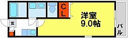 クレフラスト朱雀Ⅱ[204号室]の間取り