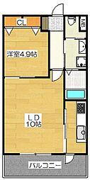 S-FORT筑紫通り[8階]の間取り