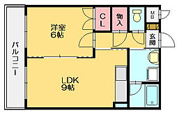 ルエトワールメゾン[2階]の間取り