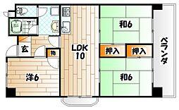 福岡県北九州市門司区西新町1丁目の賃貸マンションの間取り