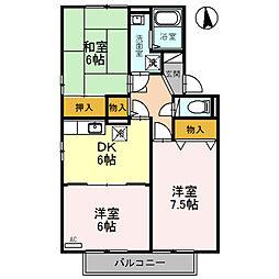 アストラルビュー[2階]の間取り