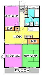 東京都練馬区大泉学園町6丁目の賃貸マンションの間取り