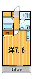 神奈川県横浜市鶴見区栄町通4丁目の賃貸マンションの間取り