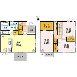 [一戸建] 石川県金沢市米泉町6丁目 の賃貸【/】の間取り