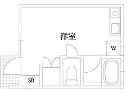 恵比寿ハウス[101号室]の間取り