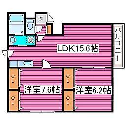 MURセブン[3階]の間取り