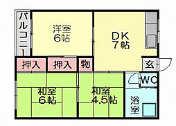熊本ビル[3階]の間取り