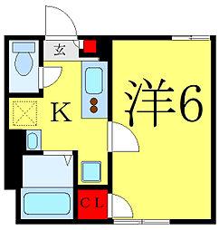 都営三田線 西巣鴨駅 徒歩7分の賃貸マンション 4階1Kの間取り