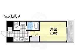 HF駒沢公園レジデンスTOWER 3階1Kの間取り