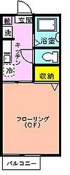 シャーメゾン椿森[102号室]の間取り