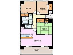 サンマンションアトレ諏訪新道 906号室[9階]の間取り