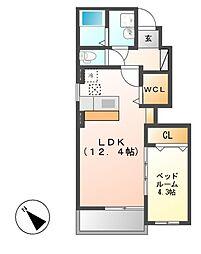 プリムローズI(アイ)[1階]の間取り