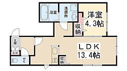 (仮)桜コートII[103号室]の間取り
