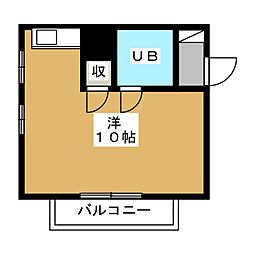 サザンクロス箱崎[3階]の間取り