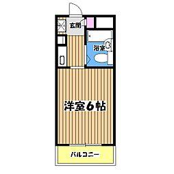 東京都八王子市千人町4丁目の賃貸マンションの間取り